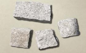 砂岩ピンコロ白御影 | 自然石タイル