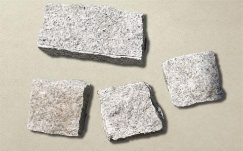砂岩ピンコロ白御影